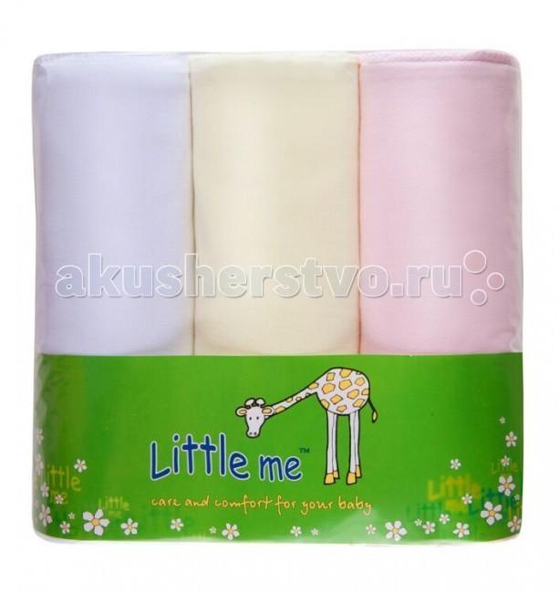 Пеленка Little me теплый трикотаж 90х120 см 3 шт.