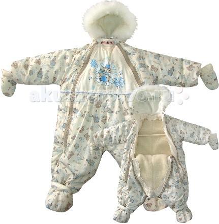 Little People Комбинезон-трансформер меховой СнежокКомбинезон-трансформер меховой СнежокЗимняя холодная погода не помешает прогулке! Комбинезон-трансформер меховой Снежок отлично согревает и не продуваем.   Он утеплен синтепоном, а прокладка из овечьего меха обеспечивает двойную защиту от холода. Молнии удобны в расстегивании, пинеточки пристегиваются на кнопочки.   Великолепно мягкий и теплый комбинезон-трансформер для малышей. Превращается из отделения с едиными ножками в отдельные брючки. Благодаря двум молниям от области шеи до самого низа комбинезон очень легко одеть на малыша даже не поднимая малыша.  Зимняя модель с рукавами со съёмной меховой подкладкой. Трансформируется в мешок. В комплекте варежки и пинетки на овчине. Состав: верх - полиэстер, утеплитель - синтепон, подкладка - 50% овчина/50% лавсан  Размер: 74 см (мешок), 86 см (комбинезон).<br>