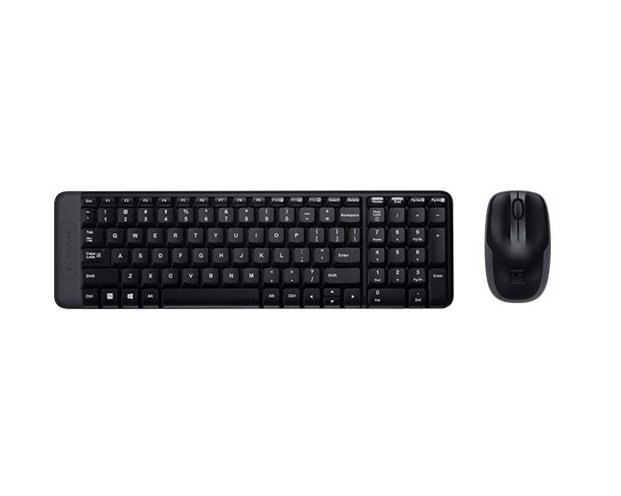 Logitech Комплект беспроводной клавиатура и мышь Combo MK220