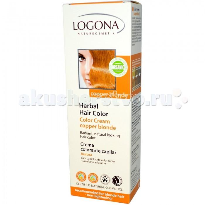 Косметика для мамы Logona Крем-краска для волос 150 мл косметика для мамы logona восстанавливающий крем для волос с маслом жожоба 150 мл