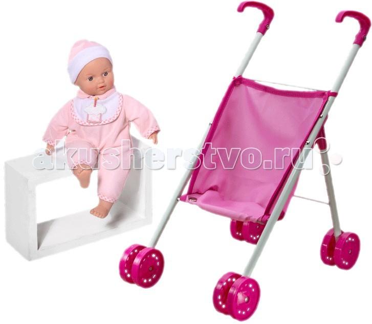 Loko Toys Кукла Tiny Baby 30 см с коляской