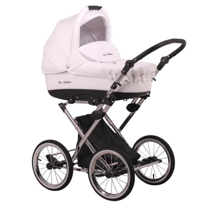 Коляска Lonex Julia Ecco 2 в 1Julia Ecco 2 в 1Коляска Lonex Julia Ecco 2 в 1 обивка коляски выполнена из эко-кожи, что позволит избавиться от возможных загрязнений, практически не затрачивая на это времени – нужно всего лишь протереть ее влажной тканевой салфеткой.   Julia Ecco 2 в 1 оснащена большими надувными колесами для высокой проходимости и мягкого хода коляски.   Особенности: хромированная рама высота ручки регулируется для ручки используется покрытие эко-кожей колеса большого диаметра, надувные на подшипниках надежная амортизация на кожаных ремнях легкая установка модулей, возможность реверсивной установки вместительная корзина для покупок. Люлька: внешний материал обивки эко-кожа внутренний материал обивки – 100% натуральный хлопок жесткое дно с мягким съемным матрасиком имеет расширенное спальное место  возможно изменять положение подголовника до полусидячего теплый чехол с высоким мягким бампером удобная ручка для переноски  большой капюшон используются новейшие технологии для сохранения оптимальной температуры внутри люльки. Прогулочный блок: регулировка наклона спинки в 4-х положениях до 180° в комплекте ограничительный защитный бампер пятиточечные ремни безопасности с мягкими плечевыми накладками  регулируемая подножка с легкомоющейся отделкой объемный капюшон с окошками для проветривания просторное спальное место все внутренние текстильные детали съемные утепленный чехол на ножки. Дополнительная комплектация: утепленный чехол на ножки для прогулочного блока утепленный чехол с высоким бортом для люльки матрасик для люльки дождевик москитная сетка сумка для мамы.<br>
