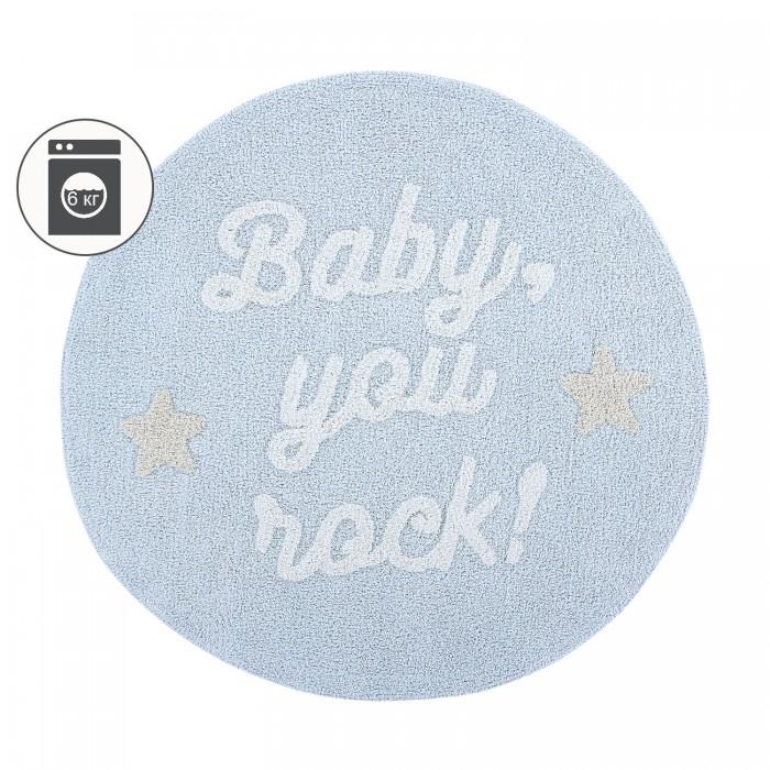 Фото - Детские ковры Lorena Canals Ковер с надписью Baby, you rock! 120D детские ковры lorena canals ковер с надписью little superstar 120d