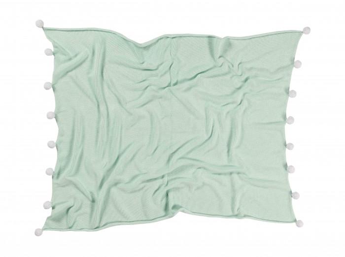 Пледы Lorena Canals с помпонами 100х120 см подушки для малыша lorena canals подушка печенька 50х35 см