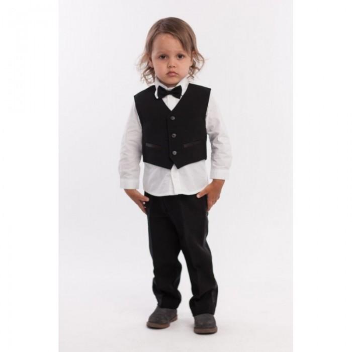 рубашка для мальчика mayoral цвет молочный 3144 35 5h размер 116 6 лет Комплекты детской одежды LP Collection Комплект для мальчика (рубашка, жилет, брюки, бабочка) 28-1683