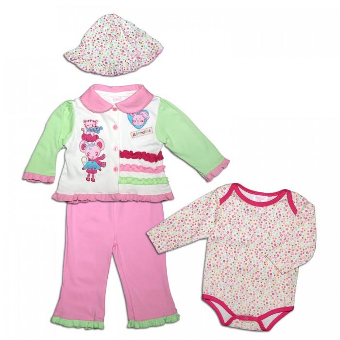 Комплекты детской одежды Nannette Комплект (кофта, шапочка, штанишки, боди) 14-2765 кофта blugirl кофта