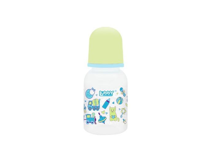 Бутылочки Lubby Малыши и малышки с силиконовой соской с 0 мес. 125 мл бутылочка lubby малыши и малышки полипропилен с 0 мес 150 мл белый