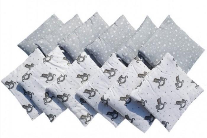 Бортик в кроватку LuBaby Единорог (12 частей)