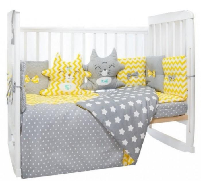Комплект в кроватку LuBaby Котята 38443 (6 предметов)