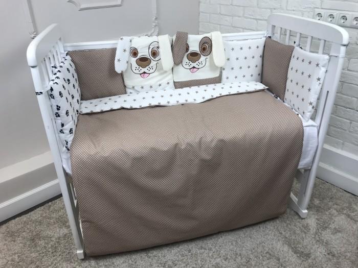 Комплект в кроватку LuBaby Собачки (6 предметов)
