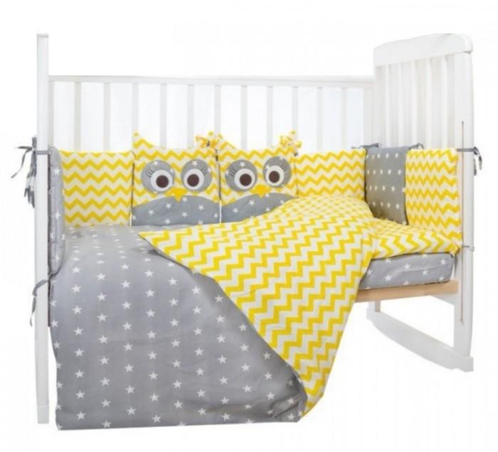 Комплект в кроватку LuBaby Совята 39203 (6 предметов)