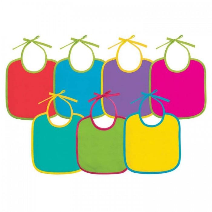 Нагрудники Lubby Фартук нагрудный на завязках В наборе от 3 мес. текстиль 7 шт.