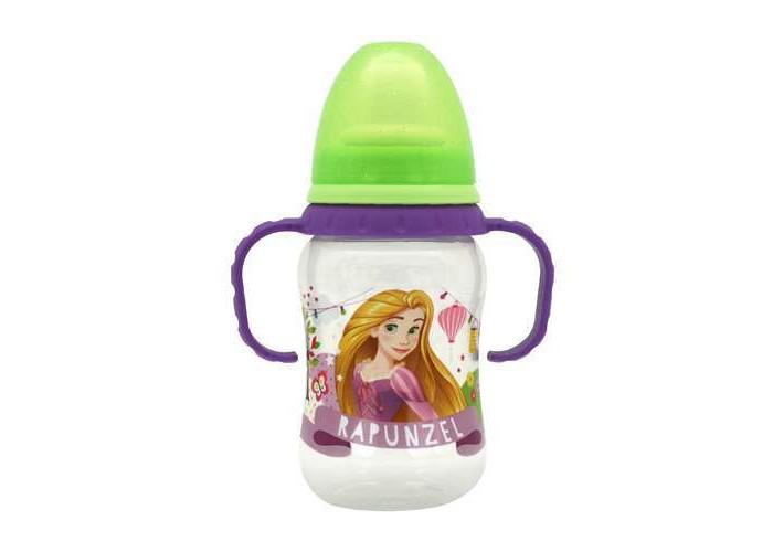 Бутылочки Lubby Disney Принцессы с силиконовой соской 250 мл тефаль бутылочка tefal disney стекло 110 мл 1 шт td6000k0