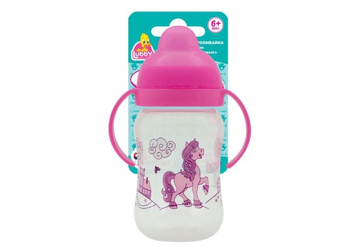 Бутылочки Lubby Веселые животные с 0 мес. 125 мл lubby клипса для соски пустышки пчелка от 0 мес lubby фиолетовый