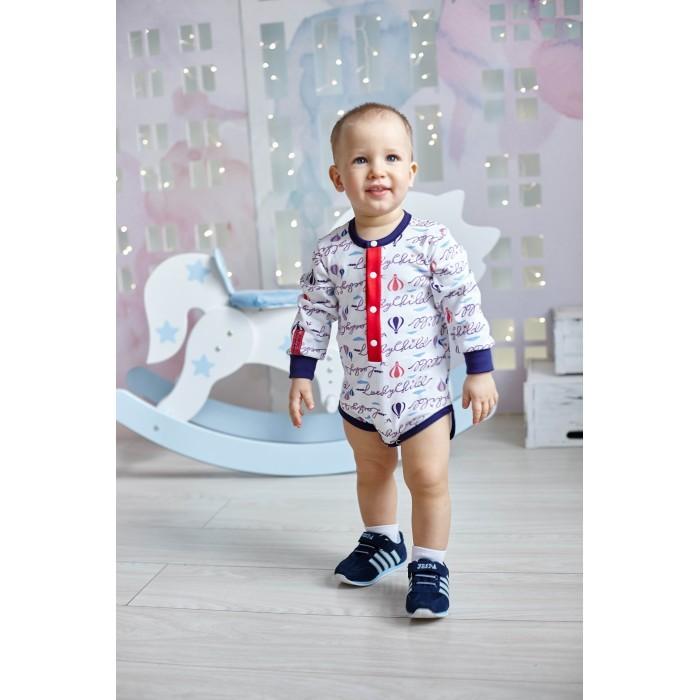 Боди и песочники Lucky Child Боди длинный рукав Парк Аттракционов 35-6 пижамы lucky child пижама
