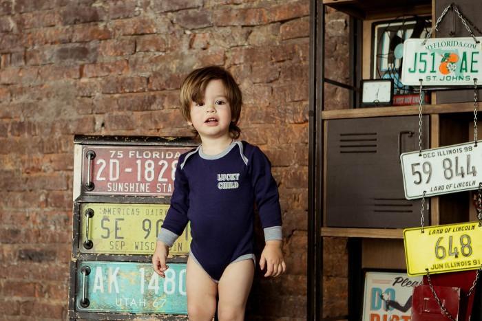 Боди, песочники, комбинезоны Lucky Child Боди для мальчика Basic sport 36-19 боди песочники комбинезоны lucky child боди для мальчика северный ветер 2 шт