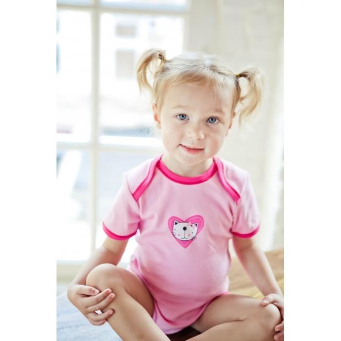 Боди и песочники Lucky Child Боди короткий рукав Love А6-119 lucky child боди ангелочки розовый короткий рукав