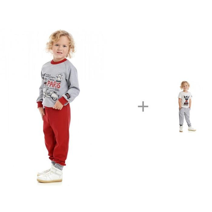 Lucky Child Брюки для мальчика Лемур в Париже 43-11пф с футболкой 43-26к