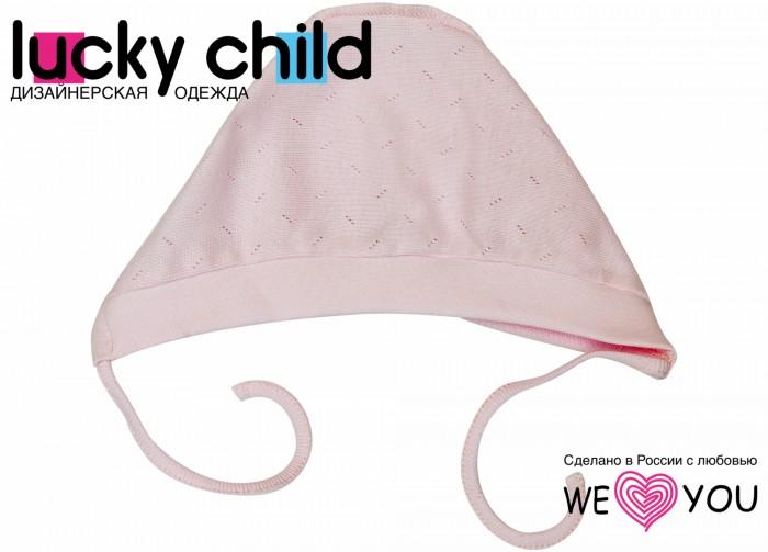 шапочки и чепчики lucky child комплект детский чепчик 3 шт лаванда Чепчики и антицарапки Lucky Child Чепчик Ажур 0-10