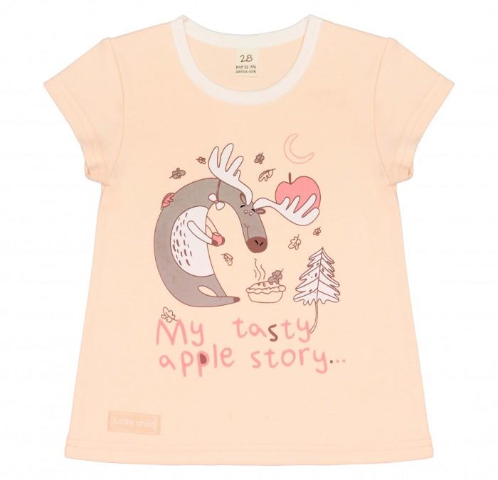 Футболки и топы Lucky Child Футболка для девочки My tasty apple story
