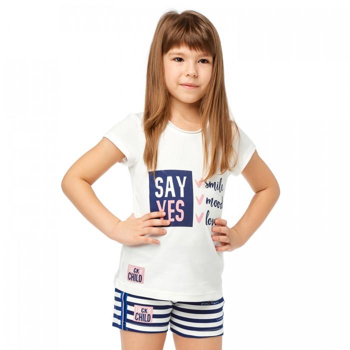 Купить Футболки и топы, Lucky Child Футболка для девочки Скажи да 83-26