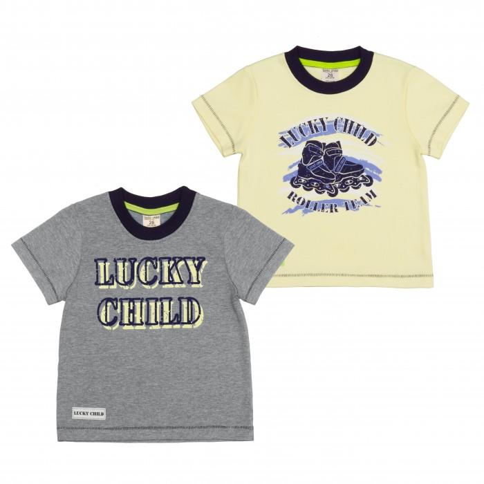 Купить Футболки и топы, Lucky Child Футболка для мальчика Basic sport 2 шт. 36-36