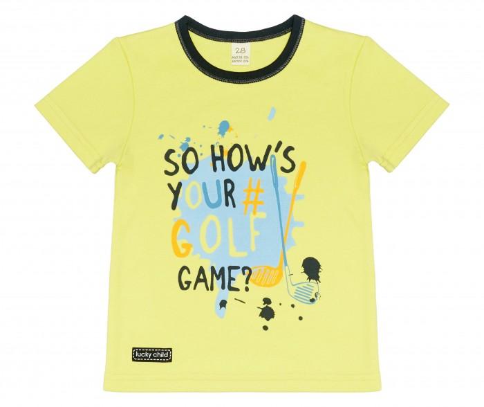 Футболки и топы Lucky Child Футболка для мальчика Golf game футболки и топы lucky child футболка для мальчика no risk no fun