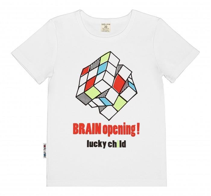 Футболки и топы Lucky Child Футболка для мальчика Куб футболки и топы lucky child футболка для мальчика no risk no fun