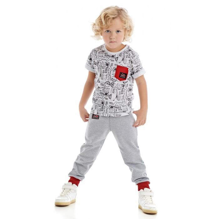 Футболки и топы Lucky Child Футболка для мальчика Лемур в Париже 43-36к/цв футболки и топы lucky child футболка для мальчика no risk no fun