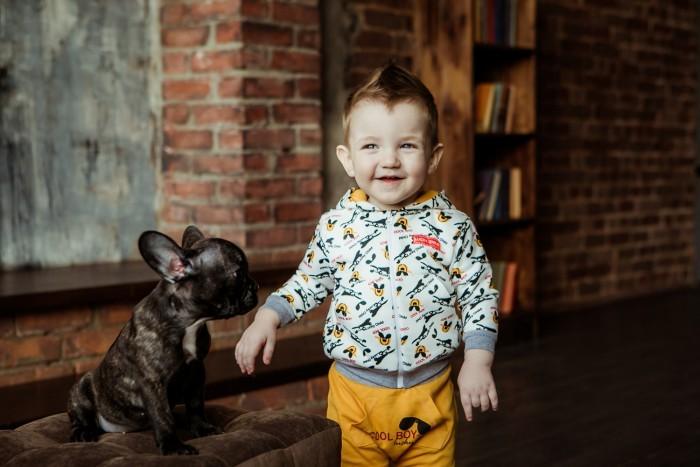 Кофты и кардиганы Lucky Child Кофта-толстовка для мальчика Крутой парень кардиганы