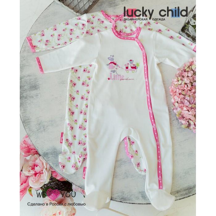 Lucky Child Комбинезон для девочки Маленькая садовница 2 шт.
