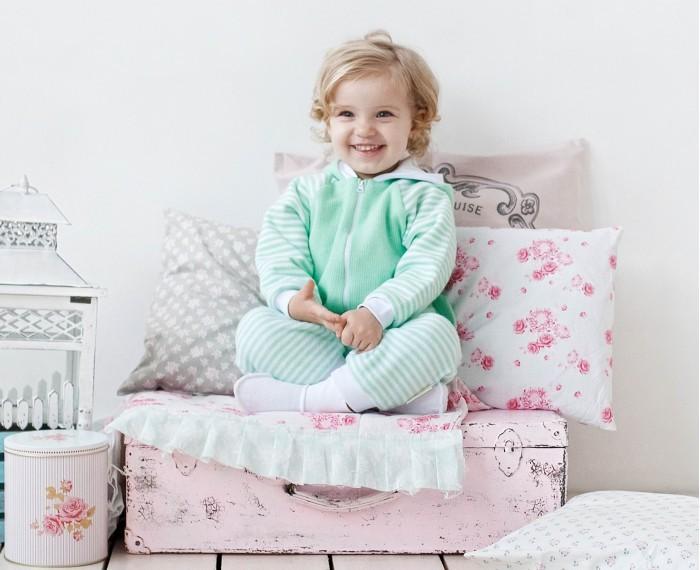 Комплекты детской одежды Lucky Child Комплект (брючки и курточка) Полоски 4-15, Комплекты детской одежды - артикул:431144