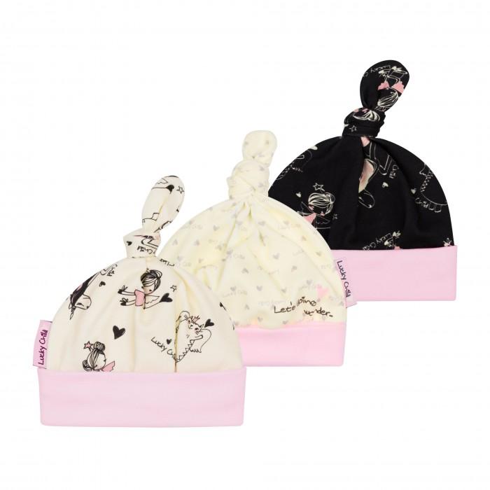 Шапочки и чепчики Lucky Child Комплект шапочек Феечки 3 шт. 30-90 пижамы lucky child пижама
