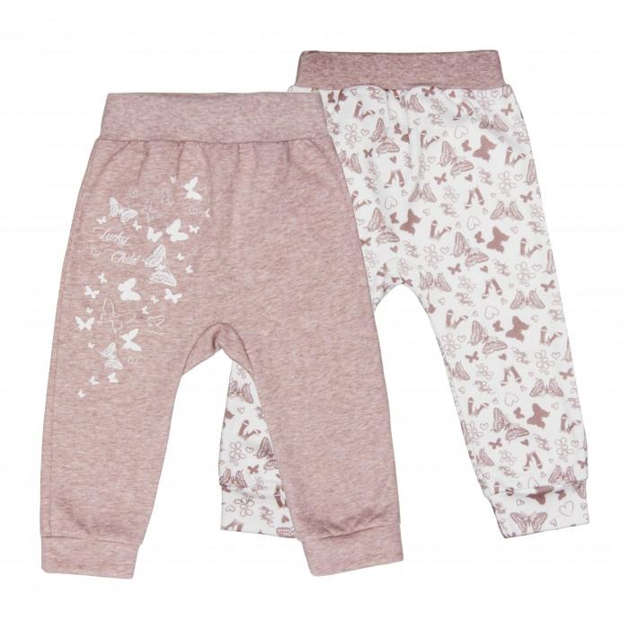 Брюки, джинсы и штанишки Lucky Child Комплект штанишек футер Дюймовочка 2 шт. 37-11ф
