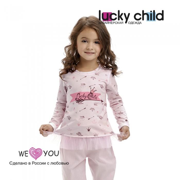 Lucky Child Лонгслив для девочки Принцесса сказки 45-12.1к