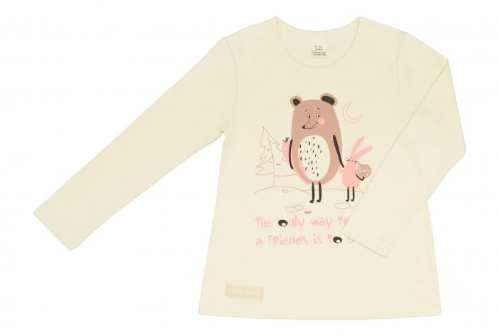 водолазки и лонгсливы Водолазки и лонгсливы Lucky Child Лонгслив для девочки Мишка и зайчик