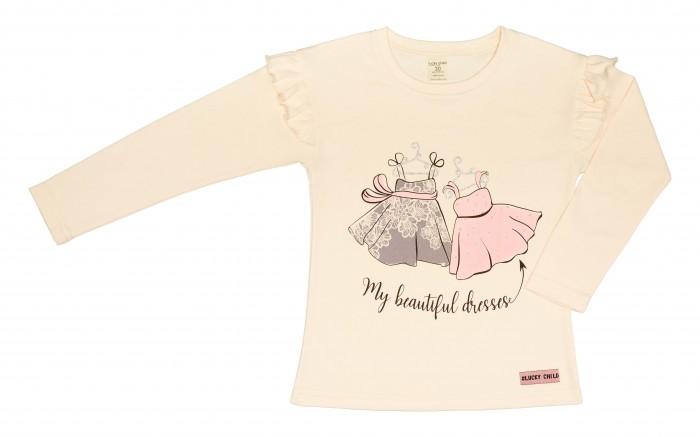 Водолазки и лонгсливы Lucky Child Лонгслив для девочки Мои прекрасные платья