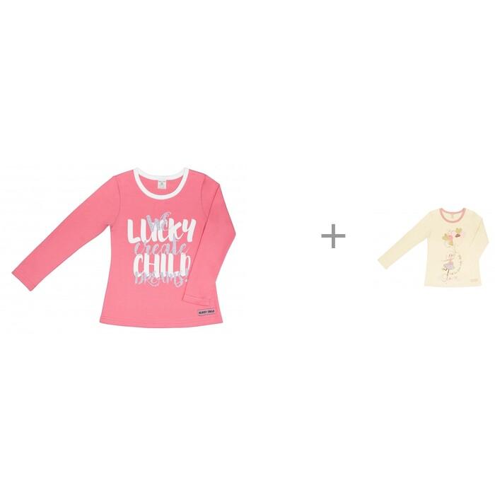 водолазки и лонгсливы Водолазки и лонгсливы Lucky Child Лонгсливы для девочки Создаем мечты и Шарики и сердечки