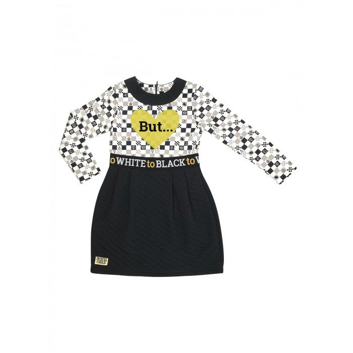 Lucky Child Платье для девочки Черное и белое 107-63ф