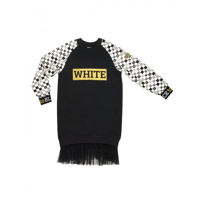 Lucky Child Платье для девочки Черное и белое 107-66