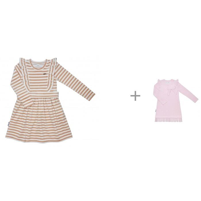 Lucky Child Платье в полоску с оборками и платье с оборками и бантиком