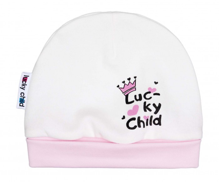lucky child шапочка ангелочки белая на завязках Шапки, варежки и шарфы Lucky Child Шапочка для Девочки 34-9