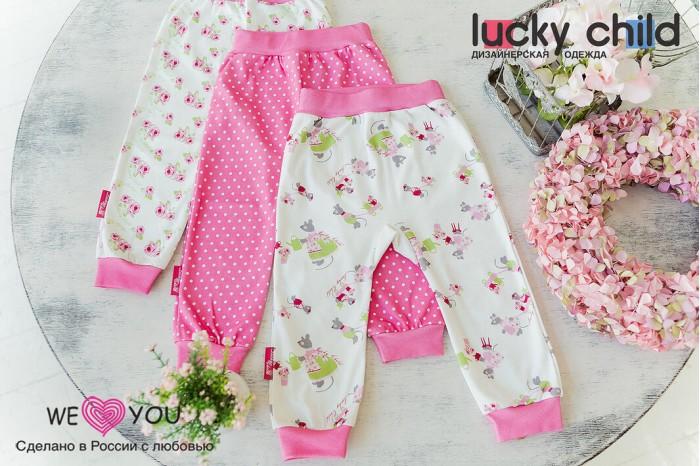 Штанишки и шорты Lucky Child Штанишки для девочки Маленькая садовница 3 шт.