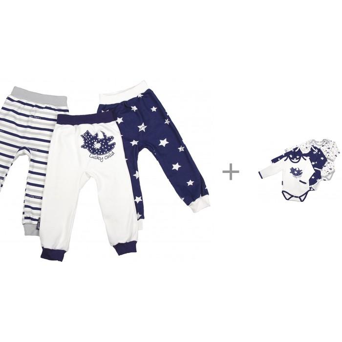 Штанишки и шорты Lucky Child Штанишки Котики с комплектом боди с длинным рукавом