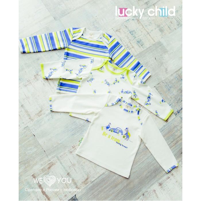 Толстовки, свитшоты, худи Lucky Child Свитшот для мальчика Маленький Гонщик 3 шт., Толстовки, свитшоты, худи - артикул:571991