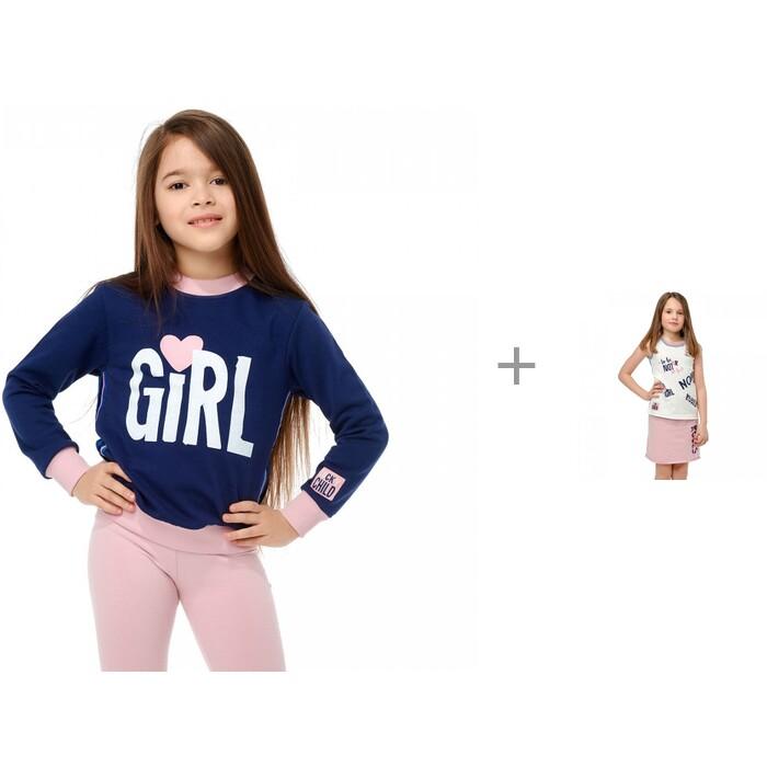 Lucky Child Толстовка 83-16пф и однотонная юбка 83-35 для девочки Скажи да