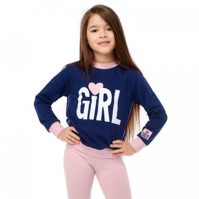 Купить Толстовки и свитшоты, Lucky Child Толстовка для девочки Скажи да 83-16пф