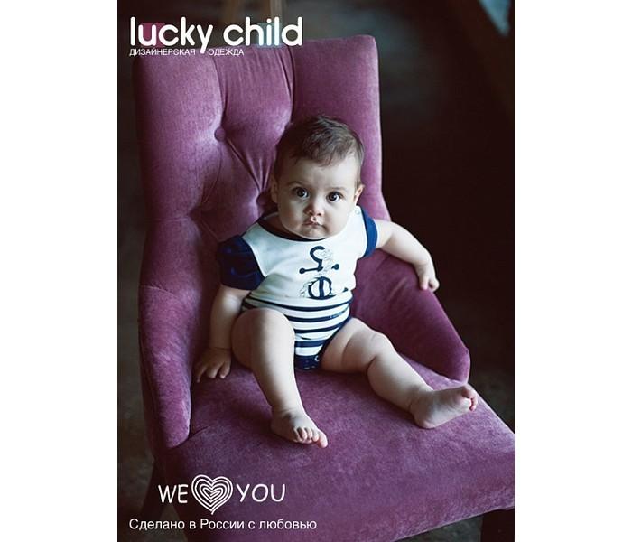 Боди и песочники Lucky Child Боди для девочки Лазурный берег 28-5Д детские платья и сарафаны lucky child платье короткий рукав лазурный берег 28 62д