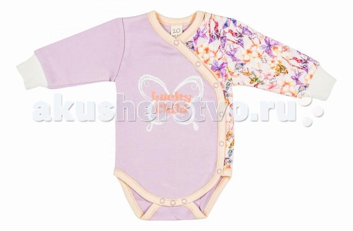 Боди и песочники Lucky Child Боди Тропический рай 26-5цв пижамы lucky child пижама