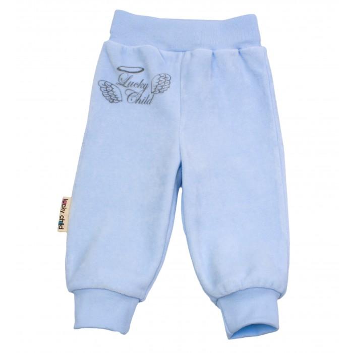 Брюки, джинсы и штанишки Lucky Child Брючки детские из велюра Ангелочки штанишки детские lucky child 28 11д 2шт белый р 74 80